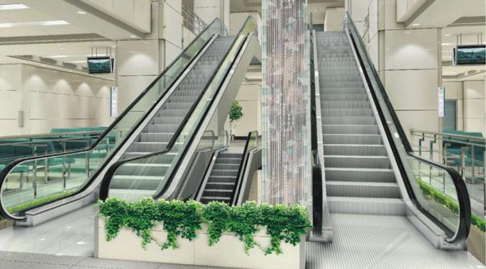 大门对着自动扶梯有什么影响?