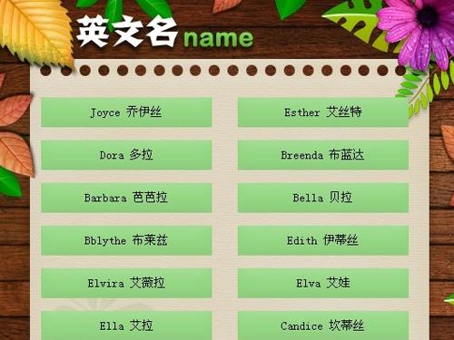 为你的宝宝取一个英文名字